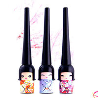 Cute Japanese Doll Waterproof Black Liquid Eyeliner  Pen Makeup  Cosmetic