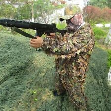 Woodland Leaf Camouflage 3D Ghillie Suit Jungle Hunting Clothing Set for Outdoor