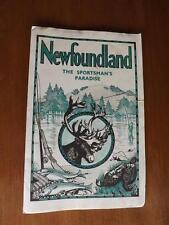 NEWFOUNDLAND THE SPORTSMAN'S PARADISE MAP GAME LAWS SNARES LICENSES PENALTIES