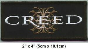 """Vintage 2003 Creed Crest Scott Stapp Embroidered Iron-On Patch  2"""" x 4"""" New"""