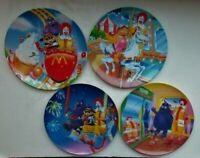 "McDonalds Plates 1993 - Amusement Park - Set of 4 - Unused - 9 1/4"""