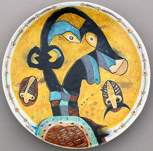 Handmade Faience Plate 14'(approximately)