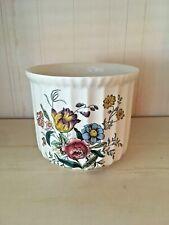 """Vintage Spode England """"Gainsborough"""" Cache pot Porcelain Floral Planter"""