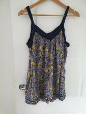 George Size 22 Blue Floral Print Strappy Vest Top