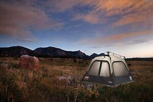 Coleman Cabin Tent Instant Setup 4 Person Outdoor Camping Sleeping Shelter 20000