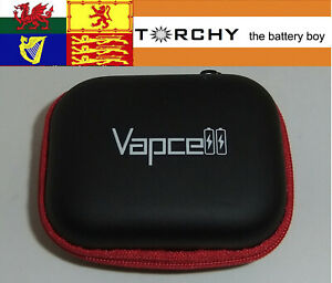 Vapcell Red Zipped battery case for 4x 18 650 size batteries
