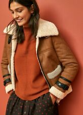 NEXT womens Shearling tan AVIATOR JACKET COAT size 10 BNWT RRP £60