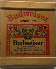 New listing Vintage Budweiser Wooden Display Box Cabinet