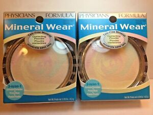 (2) Physicians Formula Mineral Wear Talc-Free Correcting Powder, Transulucent