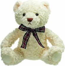 More details for suki gifts 17149 traditional bears howard white bear medium teddy 24cm