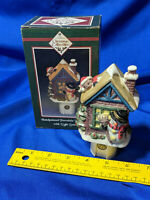 Handpainted Porcelain Night Ligth Sensor Xmas Collectibles Home For the Holidays