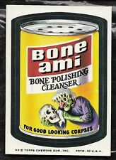 1974 TOPPS WACKY PACKAGES BONE AMI 8TH SERIES