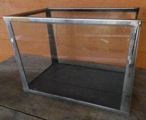 Vintage Aquarium Silver Metal Fish Tank Display 5 Gallon apx 14x8x10