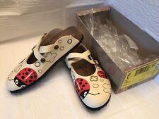 Birkenstock Birki's Dorian Ladybug Cream Slip On Mules Size 8.5 / 39