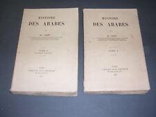 Orient Arabes CL. Huart Histoire des Arabes 1913 2 volumes complet carte