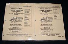 Cargo Truck M44A2 M35A2 M36A2 M35A2C M49A2C M50A3 M109A3 Maintenance Manuals
