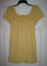 NWT JUICY COUTURE YELLOW CROCHET KNIT TOP XS P TEE SHIRT TOP