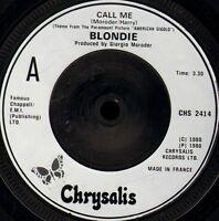 "BLONDIE call me/GIORGIO MORODER call me CHS 2414 uk chrysalis 7"" WS EX/"