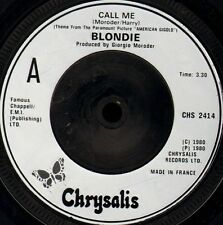 "BLONDIE call me/GIORGIO MORODER call me CHS 2414 uk chrysalis 7"" WS EX/"