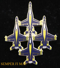 F-18 HORNET US NAVY BLUE ANGELS DIAMOND FORMATION TOP HAT PIN MARINES USS GIFT