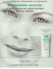 Publicité Advertising 1996  VICHY NORMADERM  peaux grasses adultes