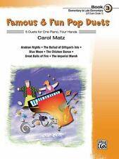 Famous and Fun: Famous and Fun Pop Duets : 6 Duets for One Piano, Four Hands Bk