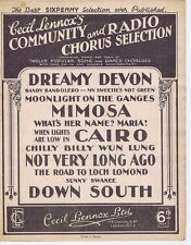 CECIL LENNOX	Community & Radio Chorus Selection	Sheet Music