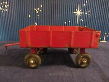 ERTL .  Farm Wagon Trailer Red  6.5in long   Pressed Steel  Used  (1216)