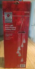 "New in Box, 26.5"" LED Solar Hanging Christmas Tree Shapes Holiday Decor"