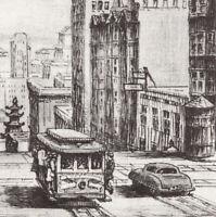 Vintage East California @ Powell Ernst Handel Postcard Cable Car San Francisco