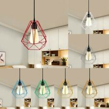 Pendant Metal Light Shade Industrial Geometric Wire Cage Lampshade Lamp Ceiling