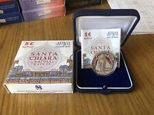 CONFEZIONE REPUBBLICA ITALIANA MONETA 5 EURO 2010 SANTA CHIARA ARGENTO 925 PROOF