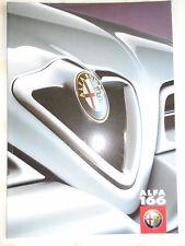 Alfa Romeo 166 range brochure Mar 1999