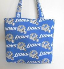Handmade NFL Detroit Lions Tote Purse Bag