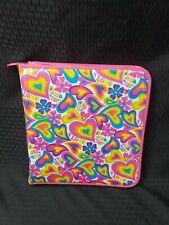 Vintage Lisa Frank Hearts Flowers Hippie 3 Ring Binder Notebook Organizer Girls