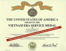 Vietnam Era Medal Ribbon Certificate & Arrow Award Case Army Navy Usmc Air Force