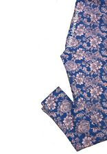 Lularoe LEGGINGS Blue And Baby Pink Floral Print One Size Os NWT NEW