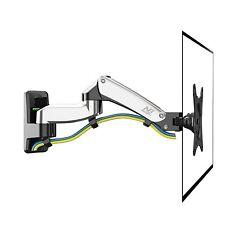 F150 TV Monitor Halter Halterung Wandhalter Wandhalterung Silber17-27Alu neigbar