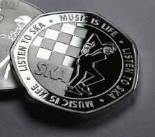 More details for 2tone ska .999 silver commemorative. music is life. reggae, rocksteady. walt