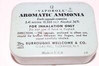 Vintage Vaporole Aromatic Ammonia Medicine Tin