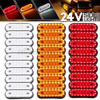 10x 20LED Side Marker Indicator Lights Lamp Caravan Truck Trailer Lorry 24v