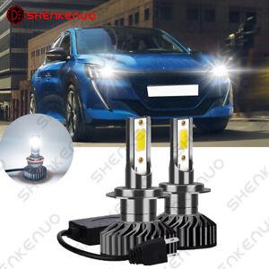 For Peugeot 208 308 3008 2008 499 H7 6000K White LED Car Headlight Bulbs 2X