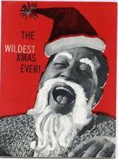 Louis Prima Keely Smith Rare Vintage original Custom Art 4x6 Christmas Card