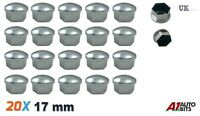 x 20 17mm aleación de Cromo Coche Perno De La tuerca de la rueda Cubre Funda