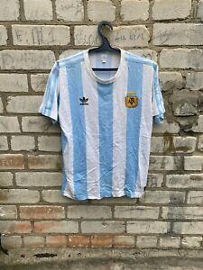 ARGENTINA VINTAGE ADIDAS FOOTBALL Shirt 1980  size M Rare Fifa 1974