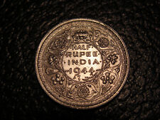 High Grade 1944 British India 1/2 Rupee Lahore Mint WE COMBINE SHIPPING Silver