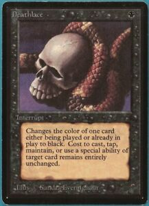 Deathlace Beta PLD Black Rare MAGIC THE GATHERING MTG CARD (ID# 221372) ABUGames