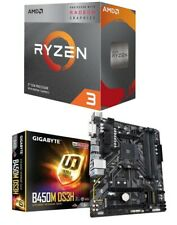 AMD RYZEN 3 3200G Quad-Core 3.6 GHz APU + GIGABYTE B450M DS3H Motherboard Combo