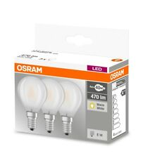 3 x Osram LED BASE P40 E14 Classic 4W Tropfen 2700K 470 Lumen wie 40W