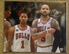 DERRICK ROSE - CARLOS BOOZER Autographed Signed Bulls 16x20 Photo PSA/DNA COA